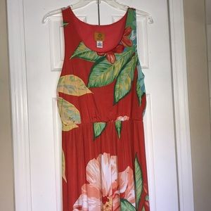 Ruby Rd floral maxi short sleeves colorful dress